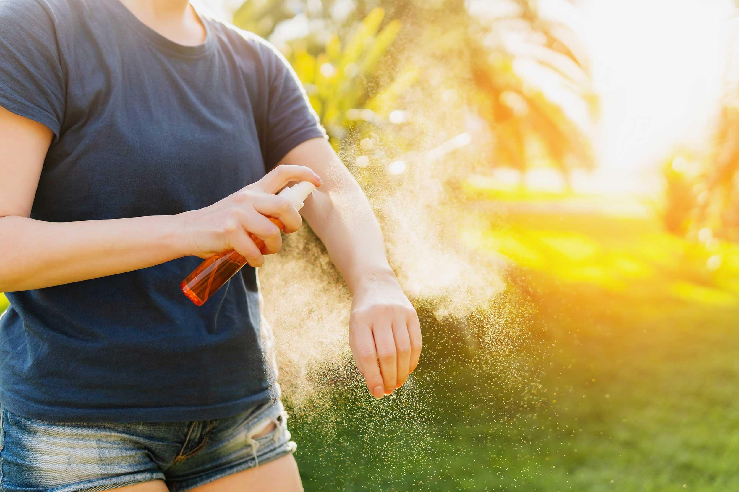 Schutz-Haut-Insekten